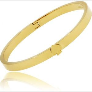 Kate Spade Gold Plated Thin Hinge Bangle Bracelet